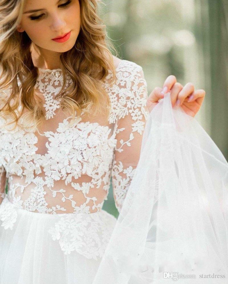 Designer Berta Wedding Dresses Sexy Sheer Backless Lace Wedding Dresses With Sleeve Cheap Country Wedding Dresses 2016 Beach Robe De Mariée