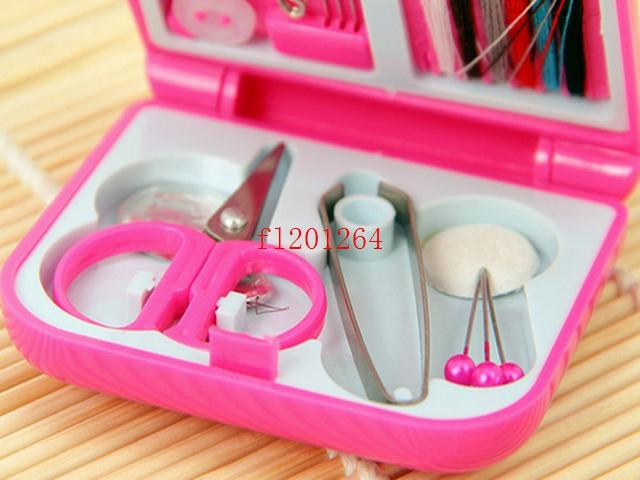 Portable Mini Travel Sewing Box With Color Needle Threads Sewing Kits Sewing Set DIY Home Tools