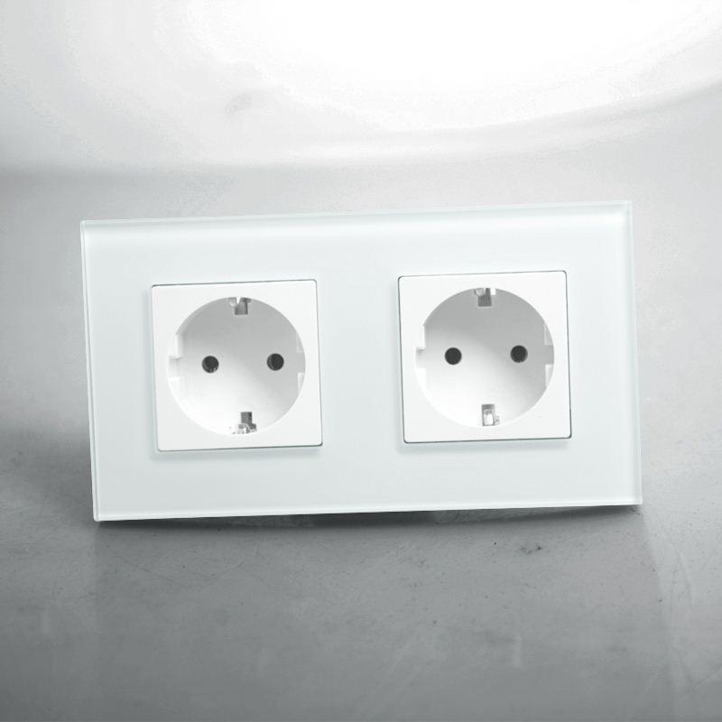 Best Kopou Double Eu Standard Power Outlet Socket, White Crystal ...
