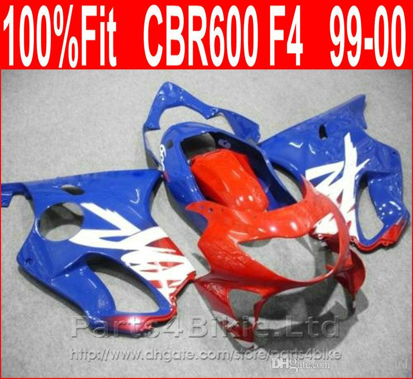 ABS Light Blue Red Body Fairing Parts For Honda 99 00