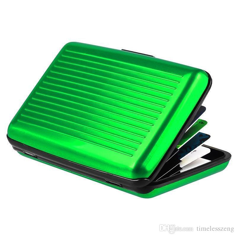 wholesale Waterproof Business ID Credit Card Wallet Holder Aluminum Metal Case Boxprevent the demagnetization Credit Card Pack