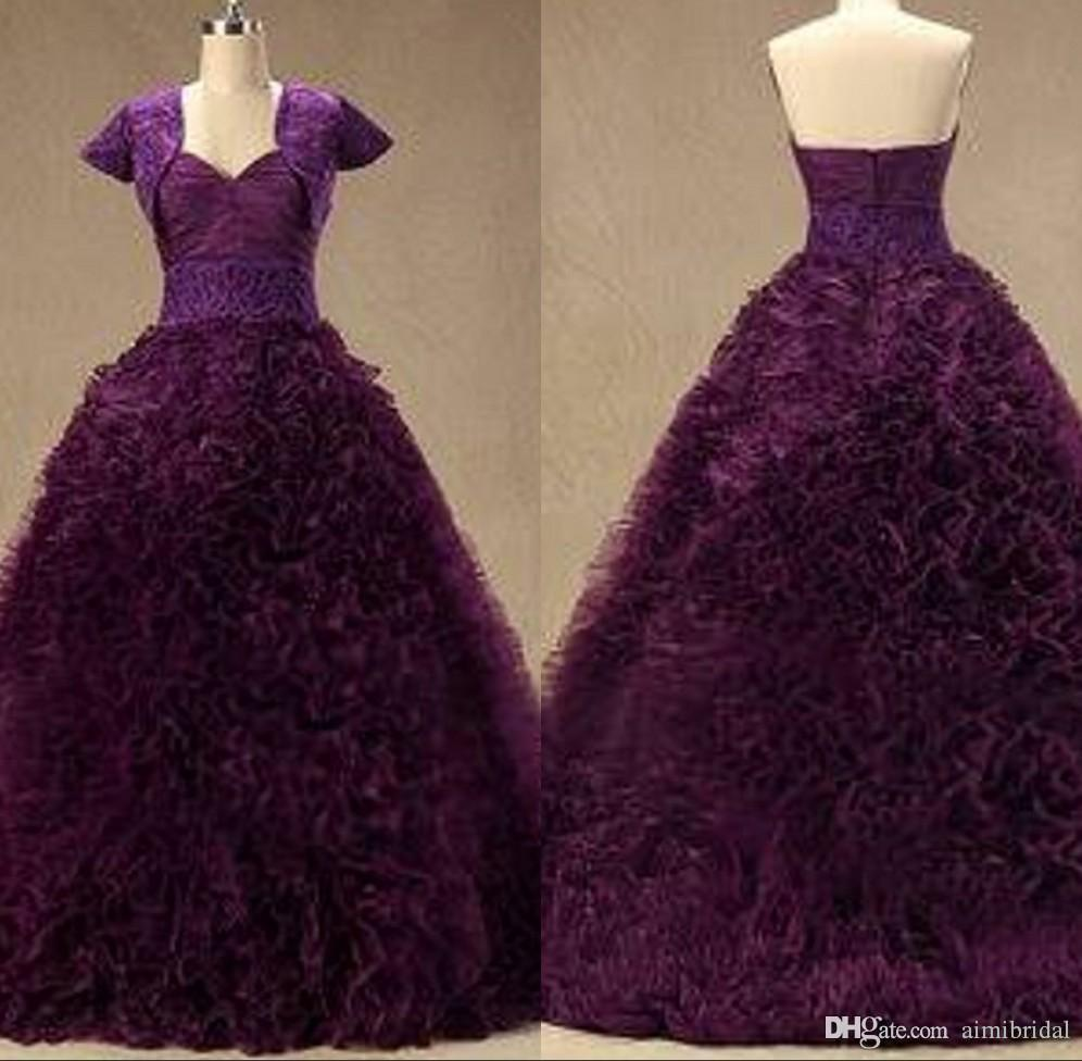 Vestido de noiva casamento dark purple wedding dresses 2018 retro a vestido de noiva casamento dark purple wedding dresses 2018 retro a line sweetheart lace appliques sash zipper court train imagens reais vestidos de junglespirit