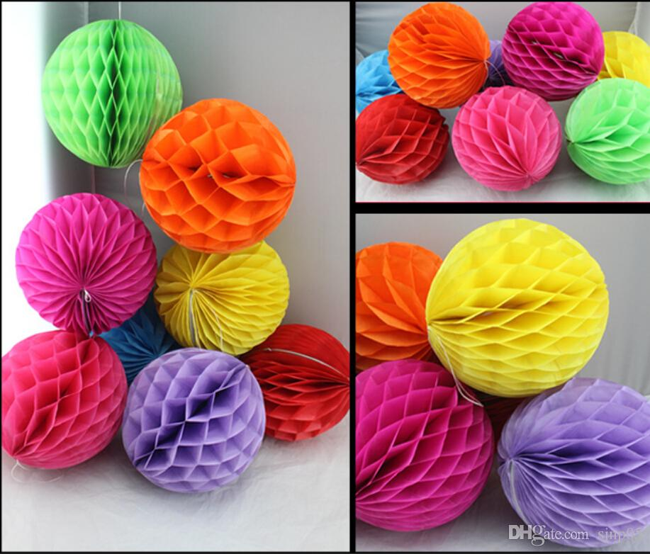 c668a58b557 8 inch decorative tissue paper flowers lantern honeycomb balls for .