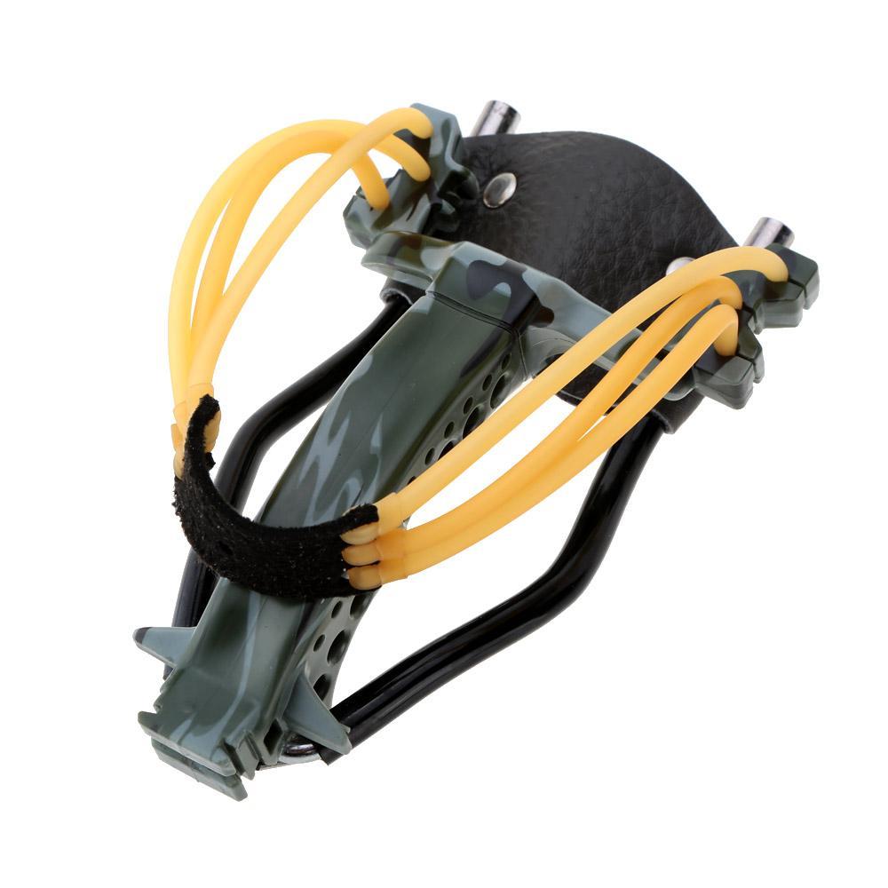 2 élastiques pliants poignet slingshot catapulte jeux de plein air puissant camouflage chasse chasse catapulte arc flèche outils