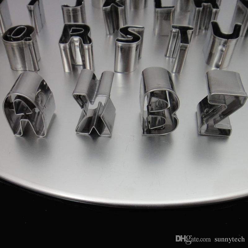 Stainless Steel Alphabet Letter & Number Cake Cookie Decorating Cutter Sugar Craft Mold High Quality ZA5163