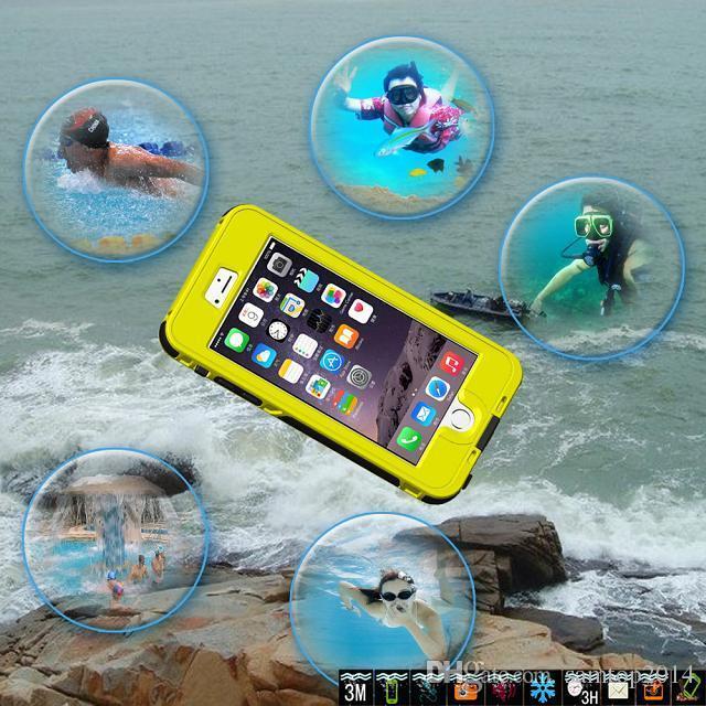 Waterproof Dustproof Shockproof Case Cover Protector for iPhone 6 iPhone 6Plus Water Shock Dust Snow Proof Retail Package