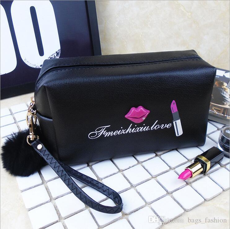 2019 Modern Girl Travel Makeup Bag Pu Lips Cosmetic Bag Waterproof Handbag  Portable Fashion Lip Pattern Women Cosmetic Makeup Bag Durable From  Bags fashion d7365db978f1e