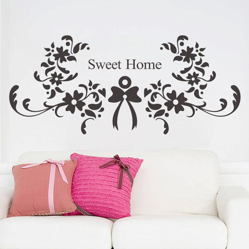 Cartoon Sweet Dream Quote Letters Wall Stickers Flower Decorative Wall Decal  For Rooms Home Decoration Nursery Wall Art Poster Wall Quote Decals Wall  Quote ...