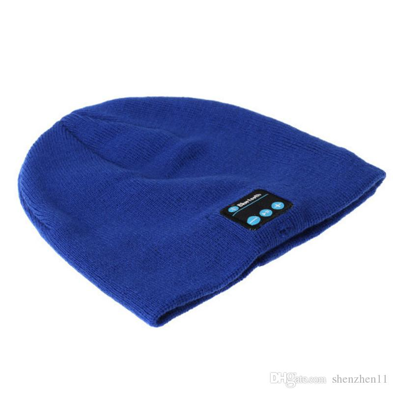 Bluetooth Hats Wireless Mini Portable Knitted Caps With Stereo Headphone Built-in Microphone Mix Colors DHL Free OTH145