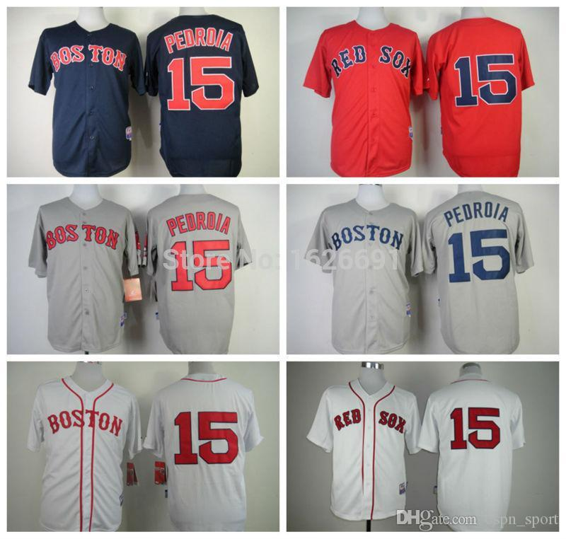b415105c6314 2019 2016 New 2015 Cheap Boston Red Sox Jerseys #15 Dustin Pedroia Baseball  Jersey Dustin Pedroia White Gray Red Cool Base Stitched Jerseys From  Espn_sport, ...