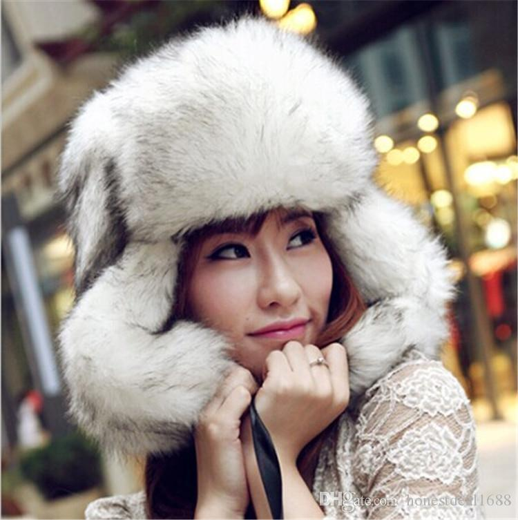 bdf3fff04cb13 2019 New Womens Mens Winter Faux Fox Fur Trapper Hats Thick Winter Warm Fox  Fur Ear Warmers Anti Wind Fur Caps Hats WH07 From Honestdeal1688