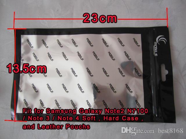 13.5 * 23CM Paquet de vente au détail Sac à fermeture à glissière pour Samsung Galaxy S20 S10 S20FE Note 20 Iphone 12 11 XR XS Max 8 7 6 Cuir Soft Soft