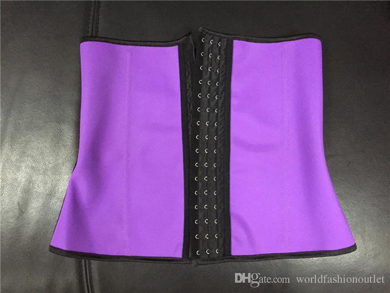4 Cores Mulheres De Látex De Borracha Cintura Formação Cincher Underbust Espartilhos Shaper Shapewear Cintura Shaper Do Corpo Shaper Do Corpo Emagrecimento S-6XL