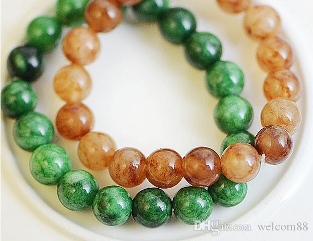 10 stks / partij Jade Kralen Armbanden Beaded Strands Voor DIY Mode-sieraden Gift CR019