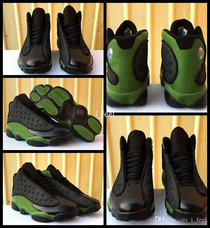 e0258656c675 2017 New High Quality 13 XIII Black Olive Green Basketball Shoes For ...