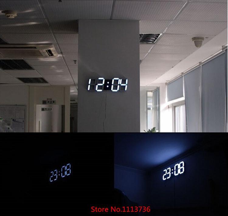 Large Modern Design Digital Led Wall Clock Big Creative Vintage