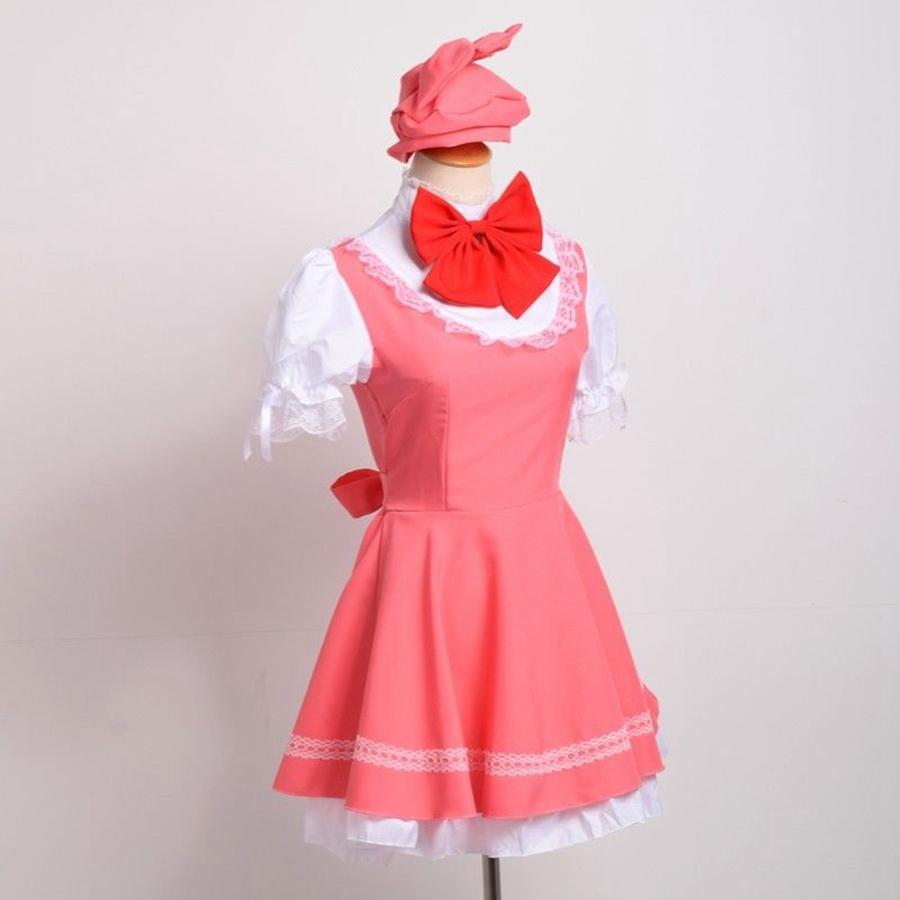 anime cardcaptor sakura cosplay costume pink kinomoto sakura dress outfits halloween clothes with gloves for girls group costumes for 5 halloween costumes - Halloween Costume Pink Dress