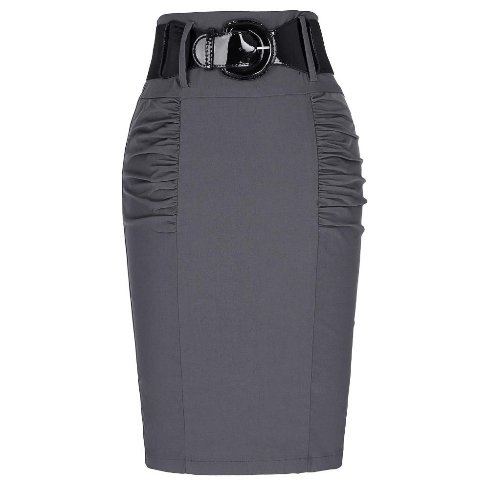 07693057763 2019 Wholesale 2017 New Sexy Pencil Skirts Womens Business Work Office Skirt  With Belt High Waist Elastic Casual Bodycon Slim Fit Ladies Skirts From ...