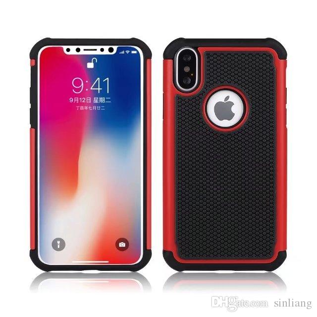For iphone X 8 7 Plus Hybrid Case Rugged Impact Rubber Matte Shockproof Heavy Hard Case for iphone 4 4S 5 6s 6plus iphone7 7plus