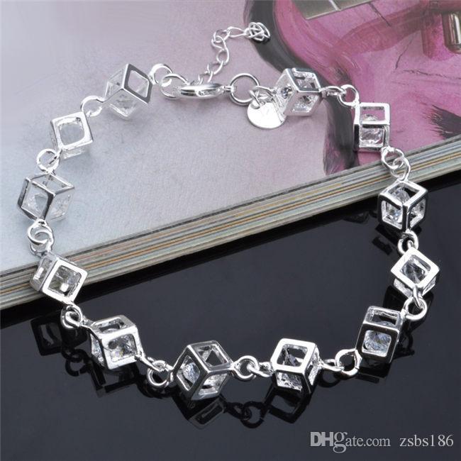 2015 Piękny Design 925 Silver Charm Bransoletka Multicolour Crystal Moda Biżuteria Darmowa Wysyłka