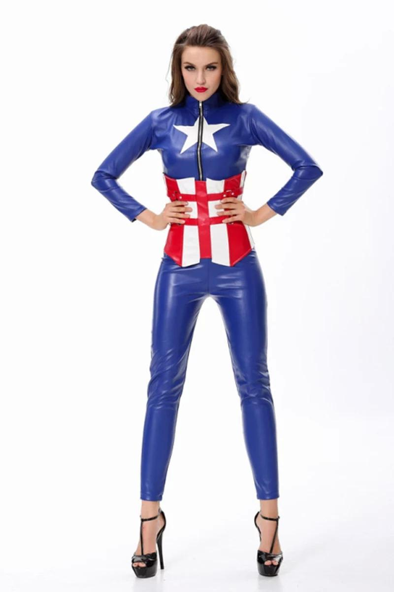 Adult Halloween Costumes Women Captain America The Avengers Women ...