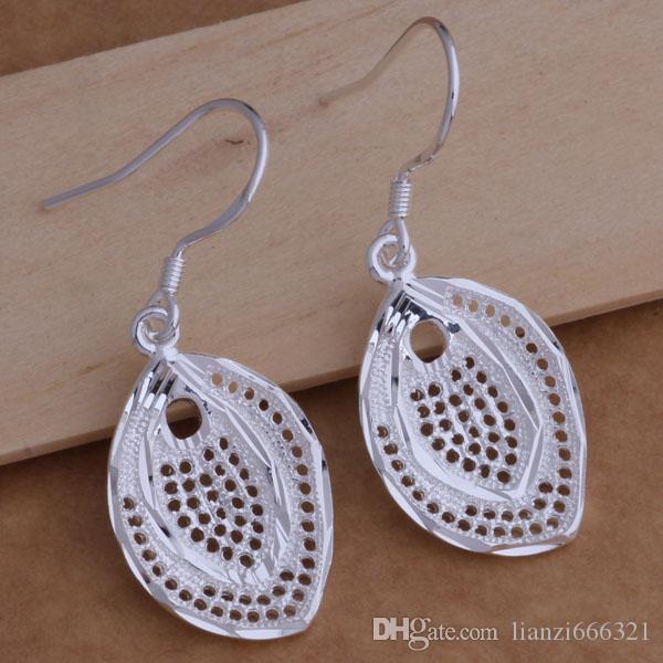 Mode fabricant de bijoux beaucoup Hollow fish boucles d'oreilles en argent sterling 925 bijoux prix d'usine Fashion Shine Earrings