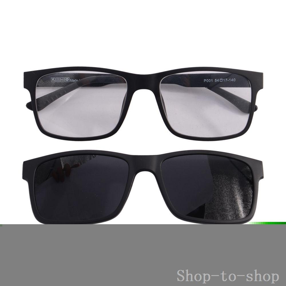 Clip On Sunglasses Men Prescription Glasses Frame TR90