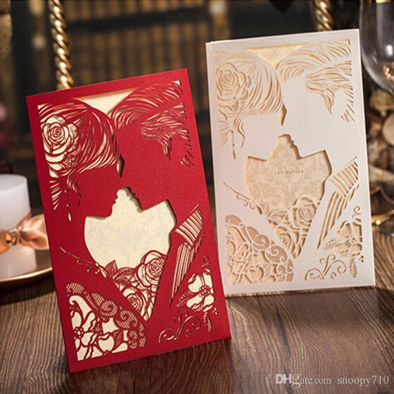 Wholesale new white red wedding invitation cards kit with wholesale new white red wedding invitation cards kit with envelopes hollow invitations blank inner page wedding party supplies cool birthday cards stopboris Images