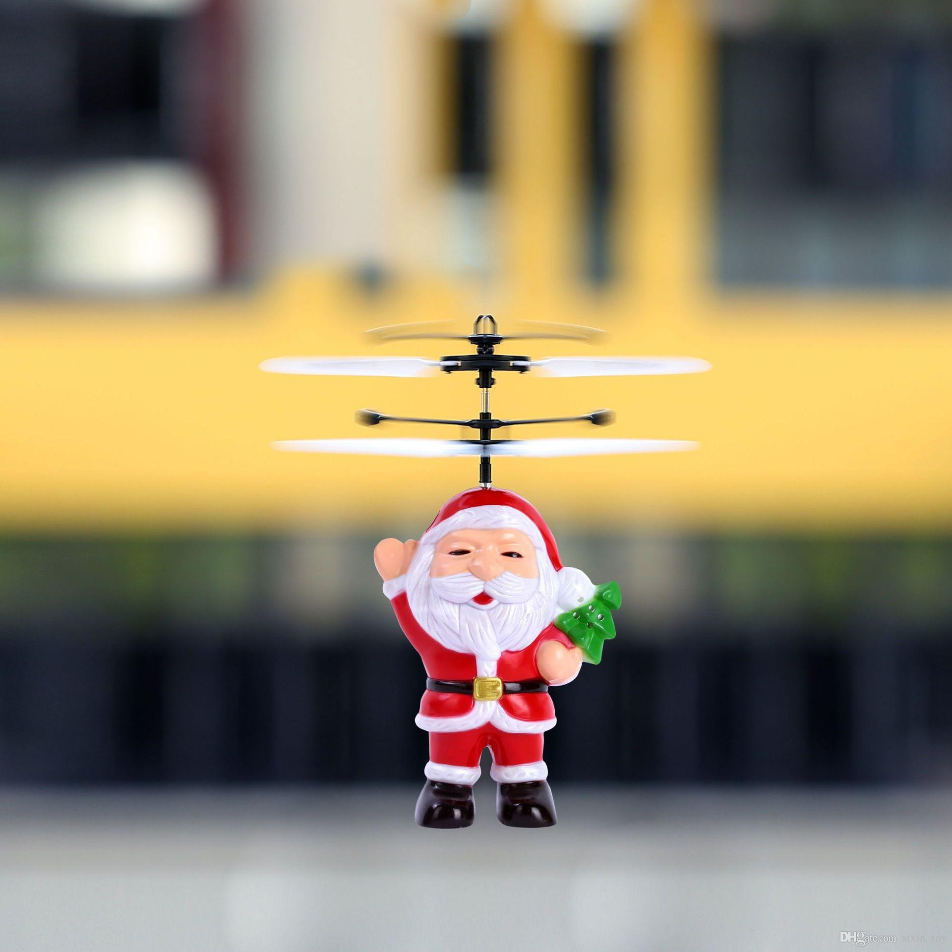 Cute Electric Infrared Sensor Flying Santa Claus Induction