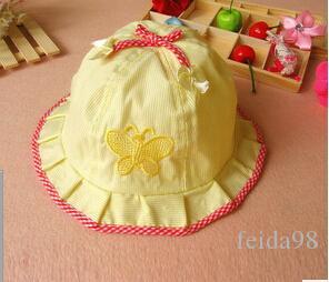 Baby cotton newborn hats summer caps toddle sunbonnet sunhat baby butterfly caps