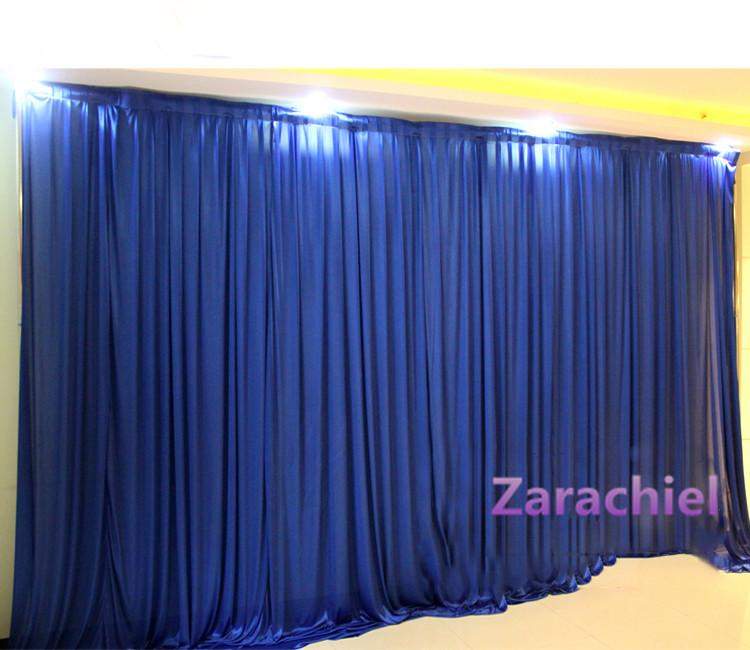 Beautiful 2016 New Style Ice Silk Elegant Wedding Backdrop 3m*3m Wedding Supplies  Curtain Wedding Decorations Free Shipping