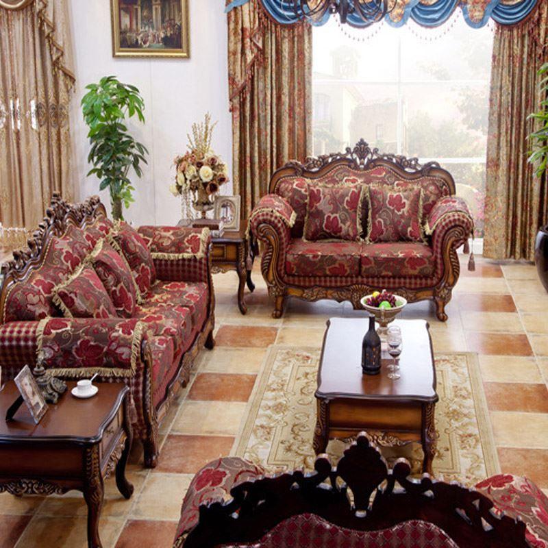 2018 European American Wood Carving Sofa Combination Living Room Sofa  Fabric Sofa Luxury Sofa From Zz799956998, $4427.14 | Dhgate.Com