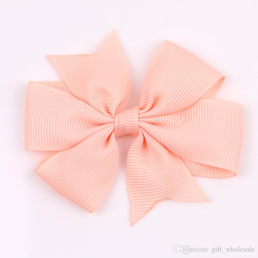 Korea Style Handmade Baby Girls' Grosgrain Ribbon Bowknots with Clip Swallow Tail Children Hair Bows Wholesale