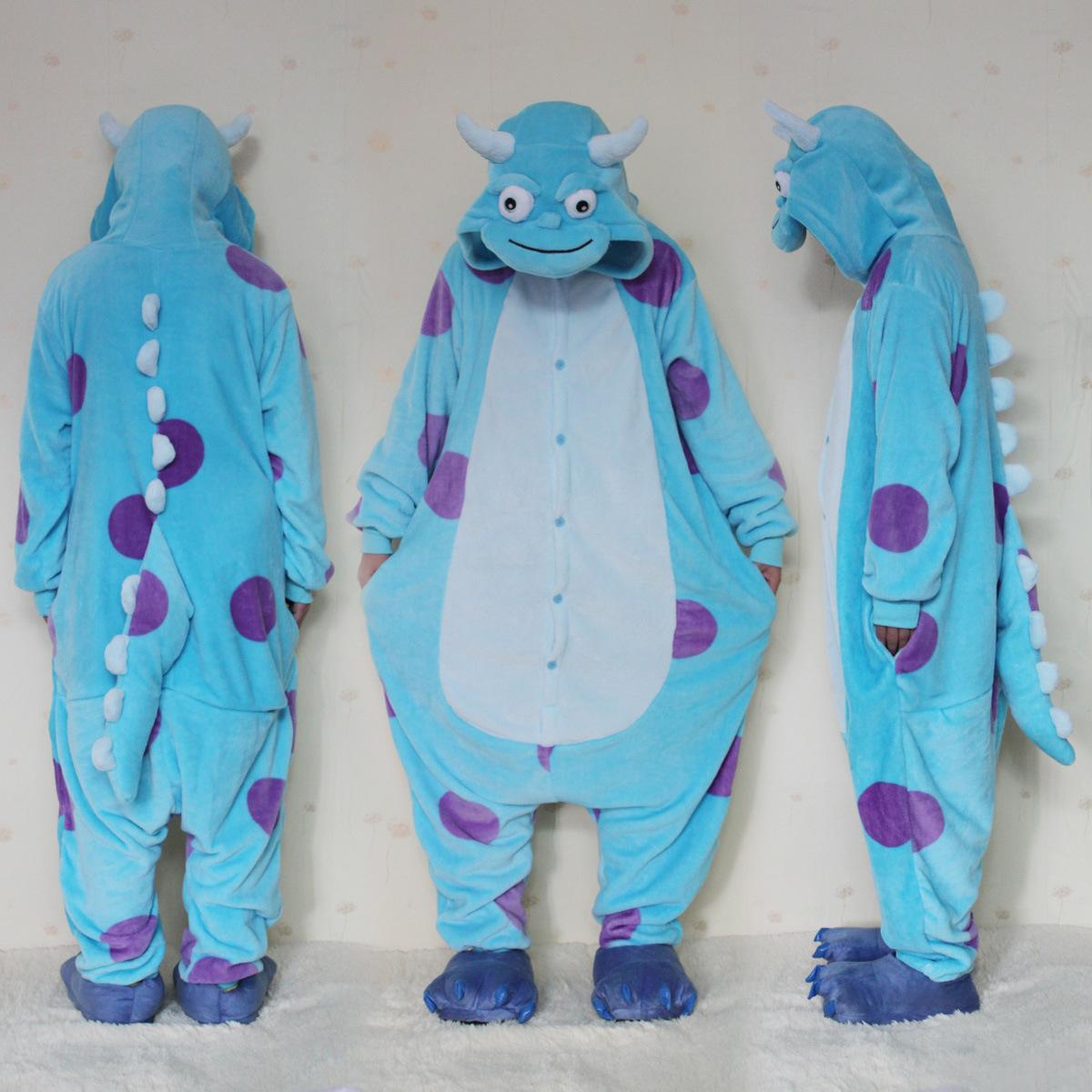 7ca6b5bf71 Monsters University Mike Wazowski Sulley Onesies Pajamas Kigurumi ...