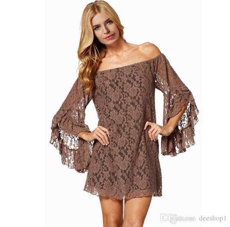 New sexy women nightclub party boat neck long sleeve dress European and American models autumn lady dress