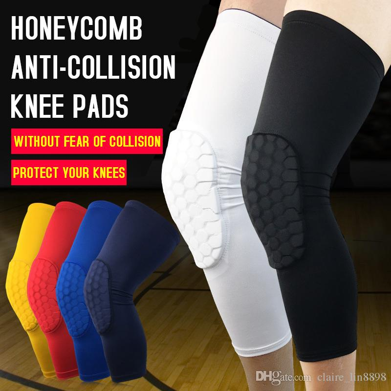 6ba10cdc4a Safety Basketball Knee Pads for Adult Antislip Honeycomb Pad Leg Knee  Support Calf Compression Kneecap Cycling Knee Protector Knee Pads Honeycomb  Pad Free ...