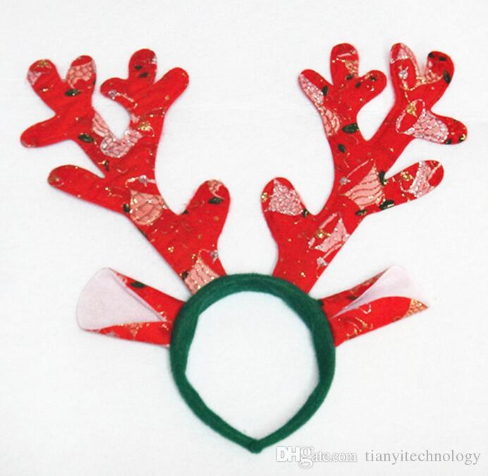 2017 Reindeer Antlers Headband For Party Headbands Hairband Xma ...