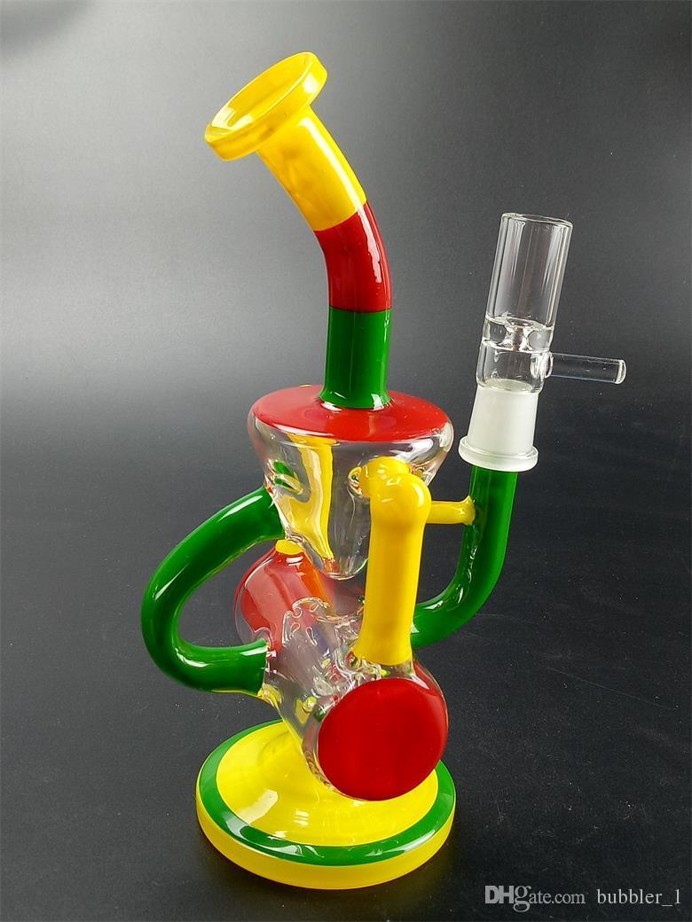 Bongo de vidro colorido 7.87
