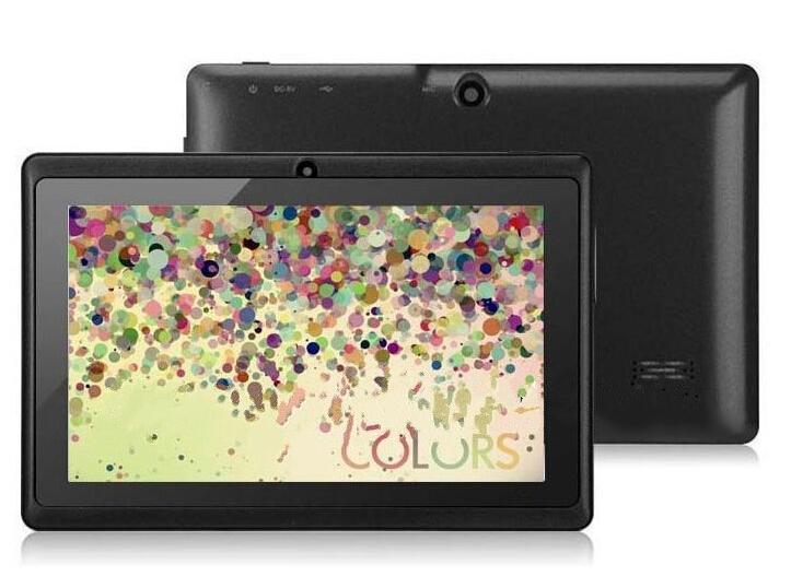 A33 Q88 Quad core 7 pulgadas Allwinner Tablet PC Android 4.4 doble cámara 4GB 512MB Pantalla capacitiva WIFI MID DHL GRATIS