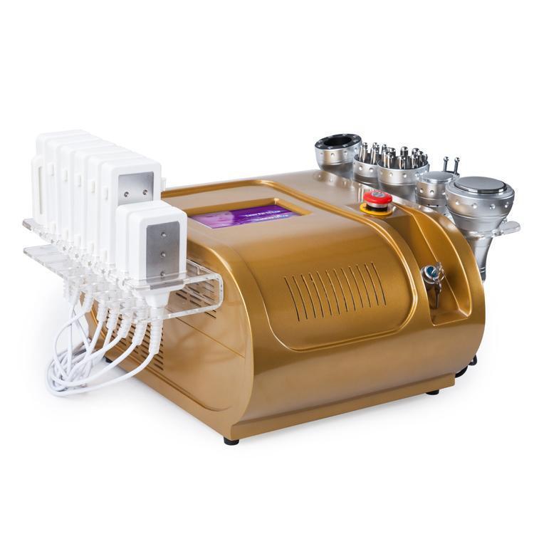 Горячая продажа 7 в 1 40 к кавитации+многополярный Lipo лазерный Мультипольный РФ Фотон вакуумный жир целлюлит для похудения салон машина