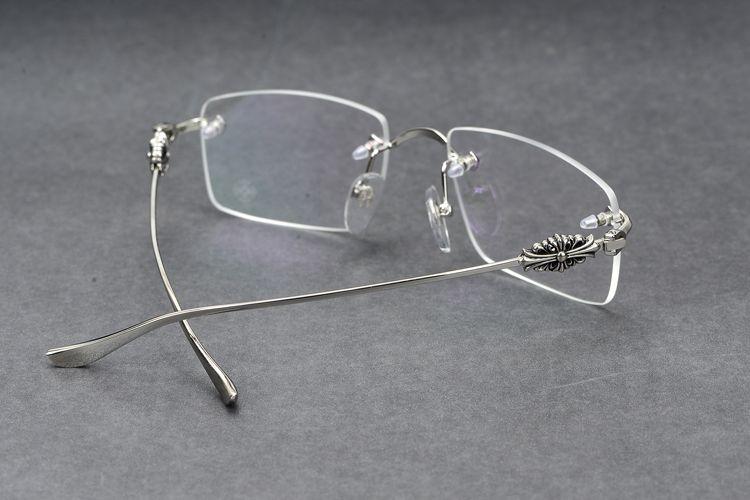 Gafas graduadas nuevas Gafas graduadas cromadas para hombres Gafas graduadas Gafas antideslumbrante con estuche original 04