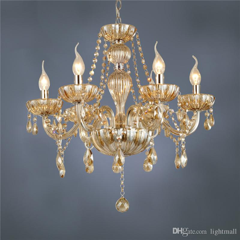 Free shipping dhl 6 arm chandelier modern crystal lamp crystal chandelier light luxury cognac living room chandelier lighting dhl 6 arm chandelier modern crystal lamp crystal chandelier light luxury cognac living room chandelier lighting unique chandelier Images