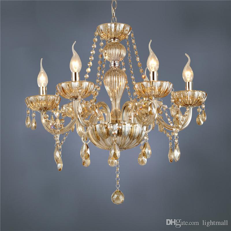 Acheter Livraison Gratuite Dhl 6 Bras Lustre Moderne Cristal Lampe