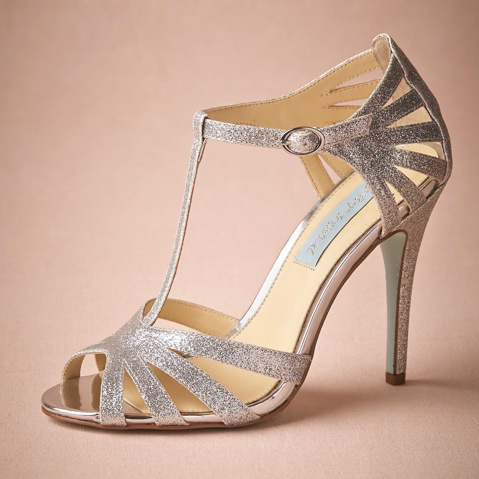 Comfortable Silver Heels   Fs Heel