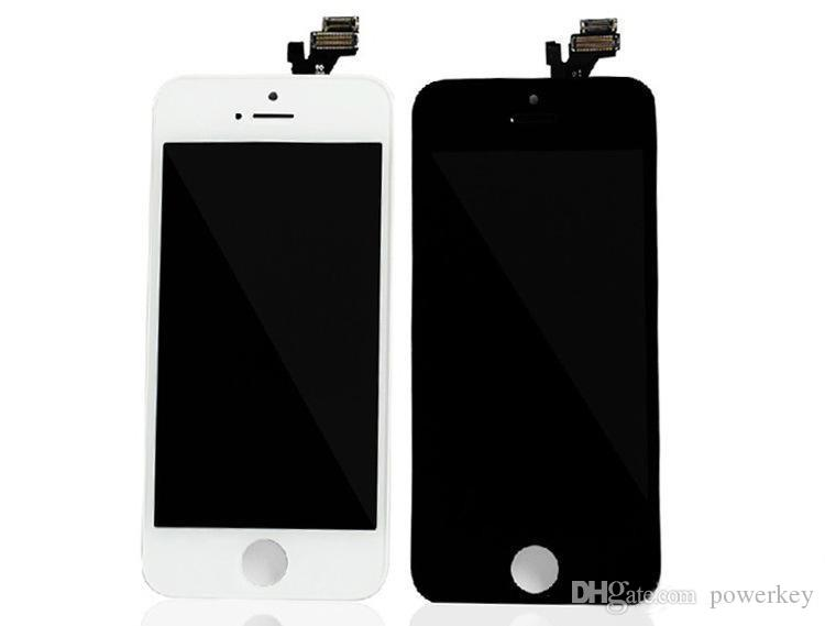 Best AAA quality for iPhone 5 5C 5S LCD touch screen digitizer Full set Assembly White and black color