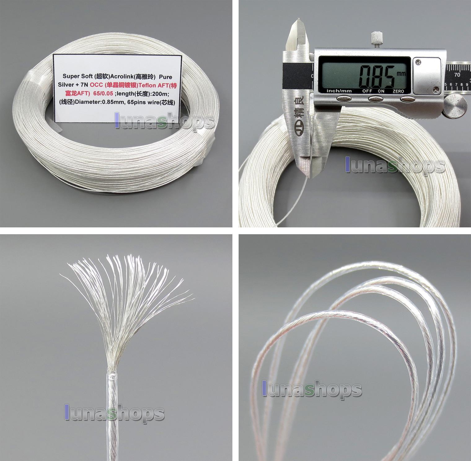 Kabel Bestellen 200m 26awg Ag99.9% Acrolink Reines Silber + 7n Occ ...