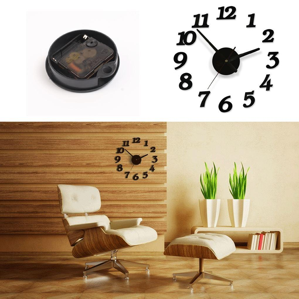 new arrive balck diy wall clock figure design 3d home decoration see larger image