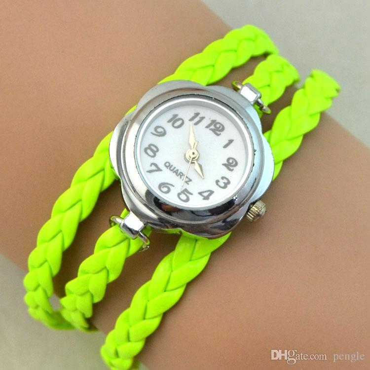 Infinity Charms Watches Quartz Watches Fashion Bracelet Watches Wrist Watches Women Watch Round Case Mix Colors