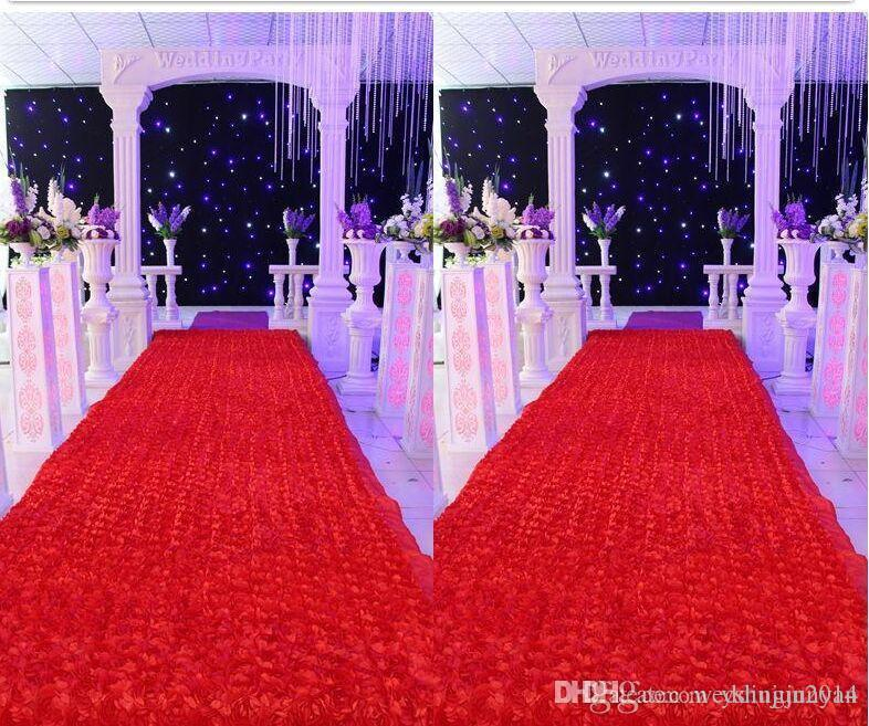 Newest item 14m50yards 3d rose flowers wedding carpet wedding newest item 14m50yards 3d rose flowers wedding carpet wedding roadkinds of colour for choose junglespirit Images
