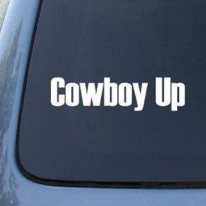 Cowboy Up Car Decal Sticker Counry Horse Truck Mud Western - Funny car decal stickers